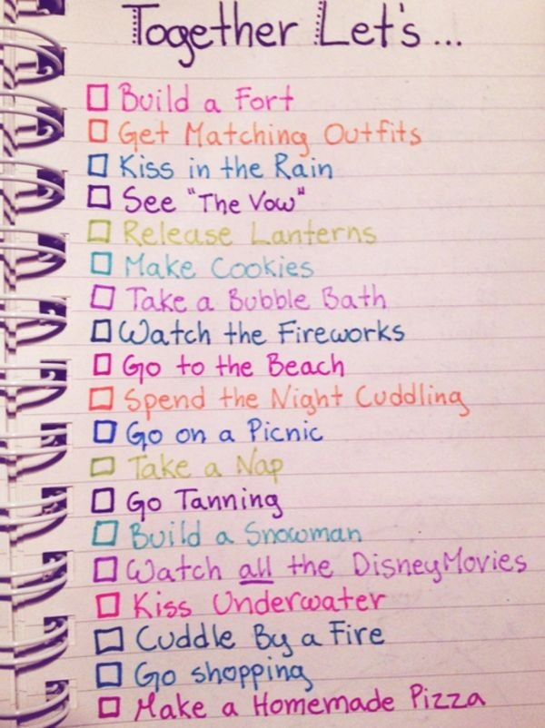 Cute Couples Bucket List | Bucketlist We Have Done A Lot Of These regarding Cute To Do List Quotes 21461