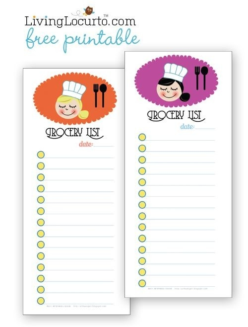 Cute Free Printable Grocery Shopping Lists. #freeprintable | Diy with Shopping List Template For Kids 22074