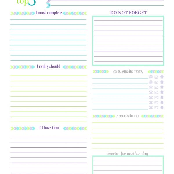 Day 27} To Do List Printables – Scattered Squirrel for ...