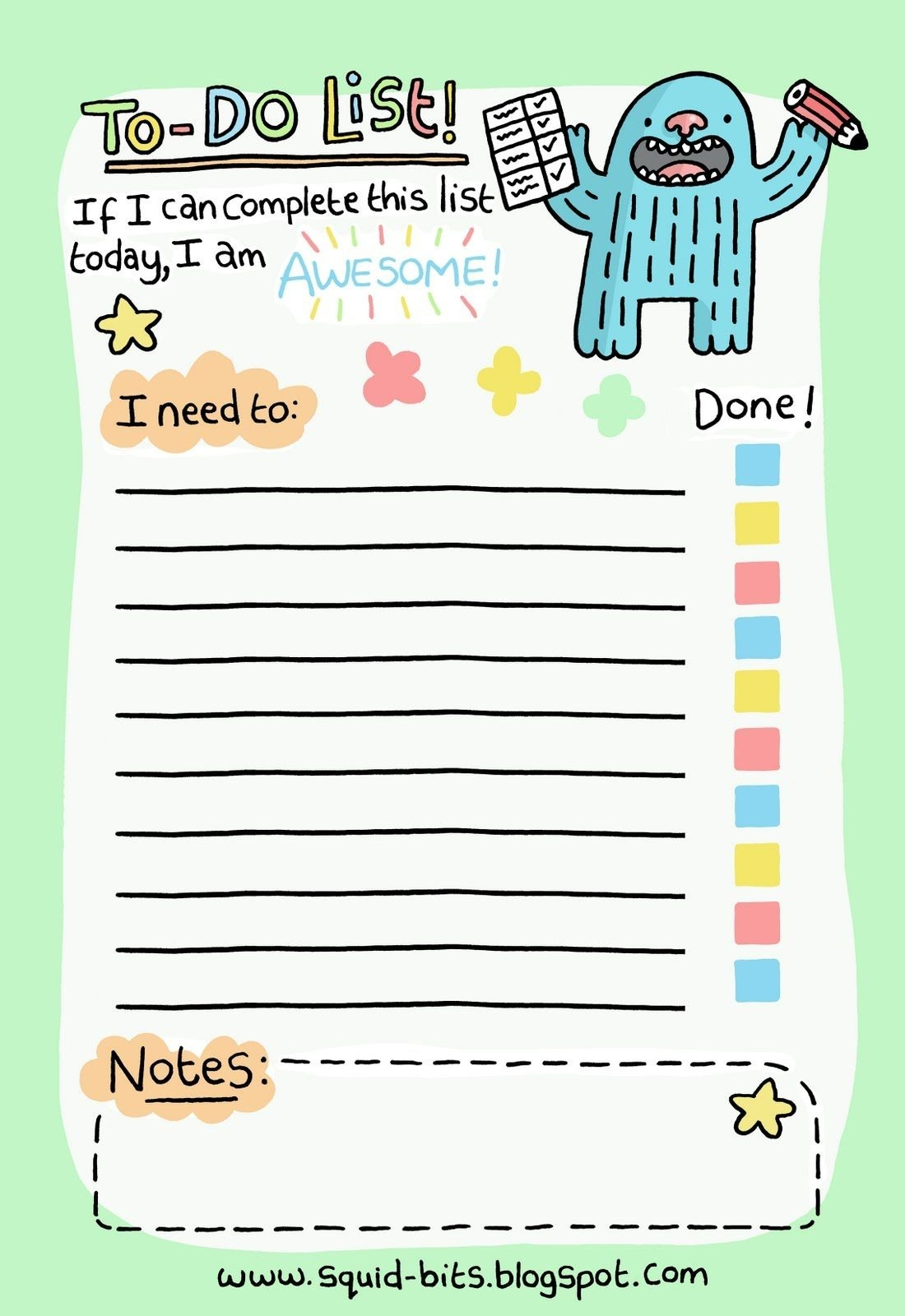 Day 6 At Nanowrimo – Making A To-Do List | Free Printable in Cute Printable To Do Lists 20498