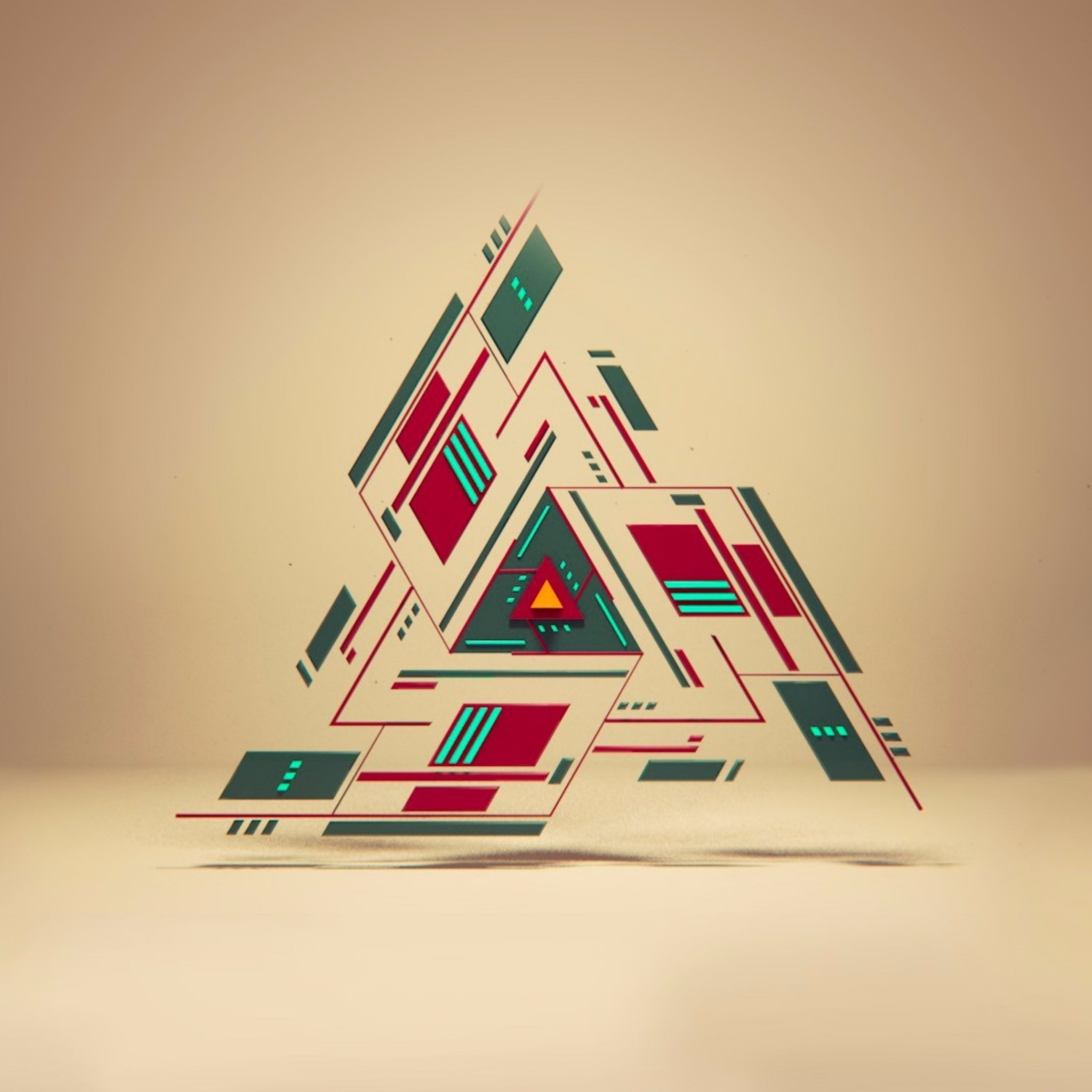 Abstract Triangle Art Wallpaper