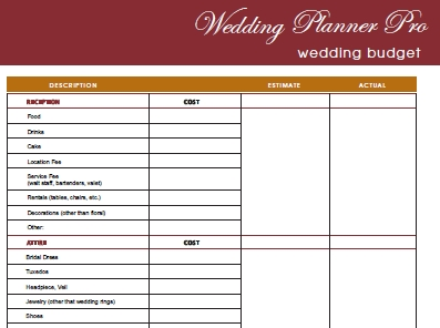 Diy Free Wedding Planner Pro Fillable Pdf | Worldlabel Blog for Blank Wedding Planning Checklist 19291