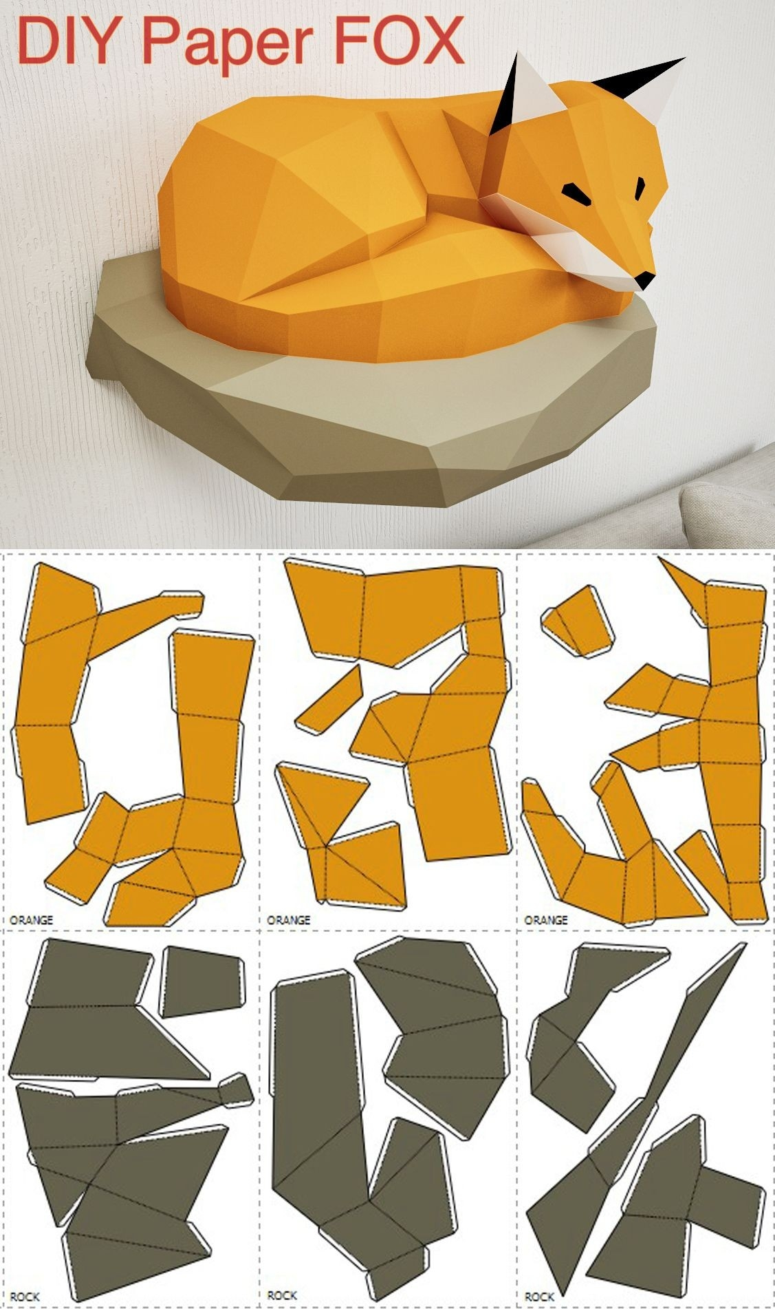 3d paper crafts templates examples and forms Home decor crafts with paper