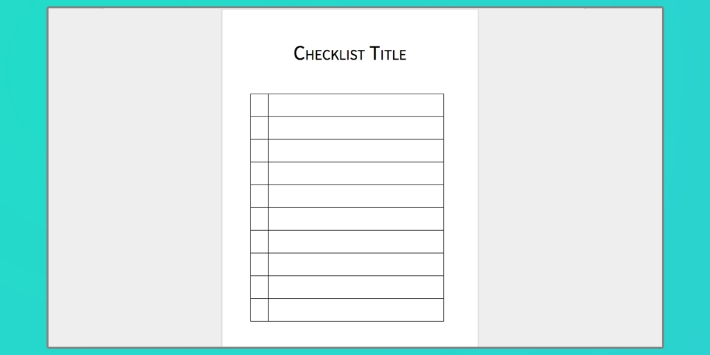 Download Your Free Microsoft Word Checklist Template | Process Street pertaining to Checklist Template 20328