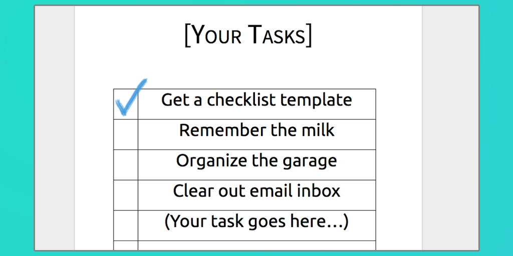 Download Your Free Microsoft Word Checklist Template   Process Street within Checklist Template Word 20398
