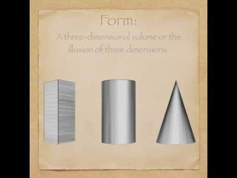 Elements Of Art: Form - Youtube throughout Form In Art Elements 23556