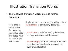 English Review Of Transitions | Free Homework Help with regard to For Example Transitions 20539