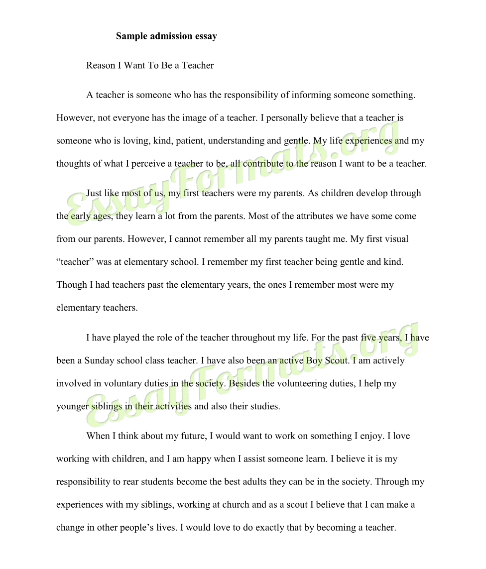 Essay Format College - Asafon.ggec.co within College Admission Essay Format 23035