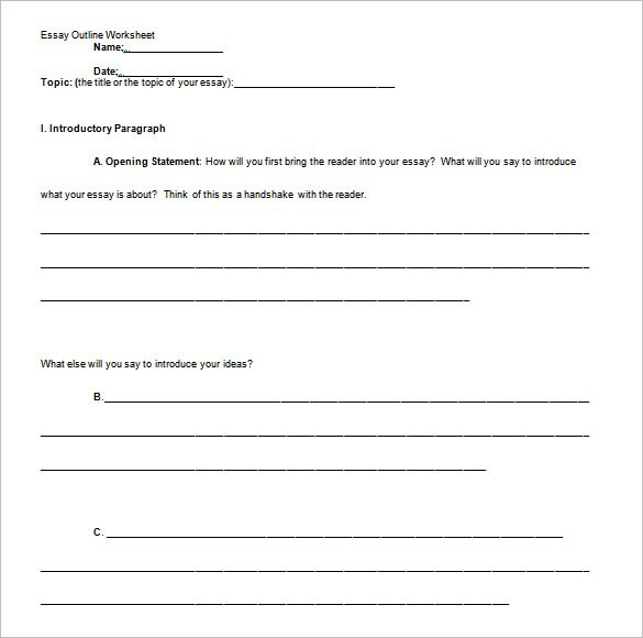 Essay Outline Template - 25+ Free Sample, Example, Format | Free in Essay Format Template 22014