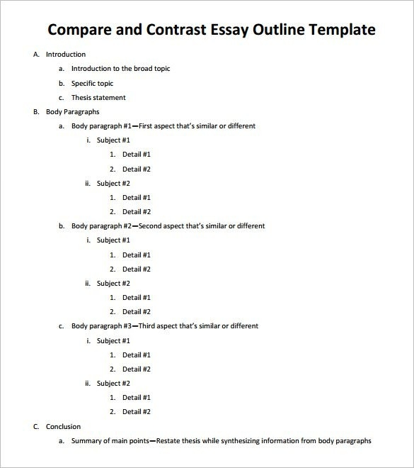 Essay Outline Template - 25+ Free Sample, Example, Format | Free with regard to Essay Outline Format 22325