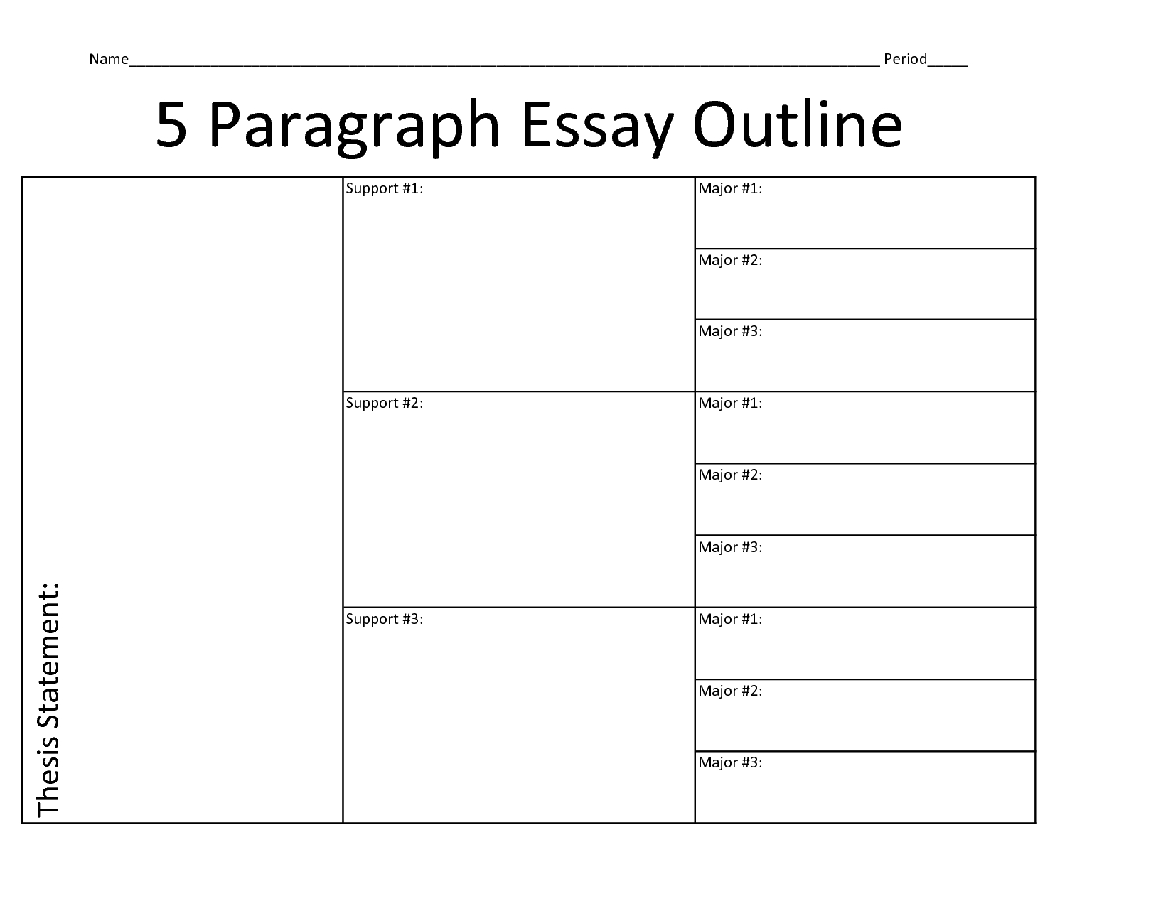 Essay Outline Template | Paragraph Essay Outline- Blank | Write with regard to Blank Essay Outline Format 22524