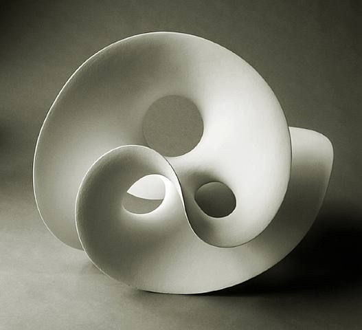 Eva Hild -Organic Ceramic Form- This Twisting Ceramic Form Is Very with Organic Form Art 24008