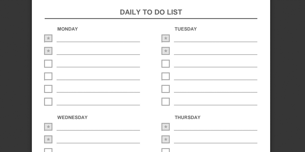 Every To Do List Template You Need (The 21 Best Templates in Daily To Do List Template 21511