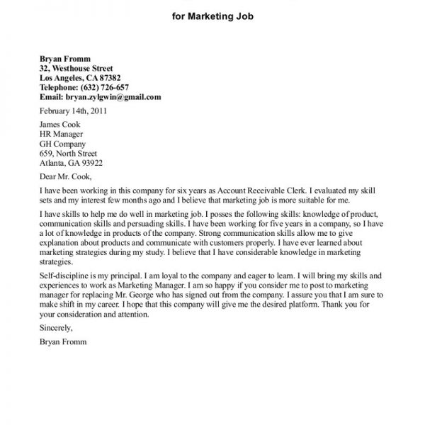 example employment cover letter 4 sample nardellidesign within