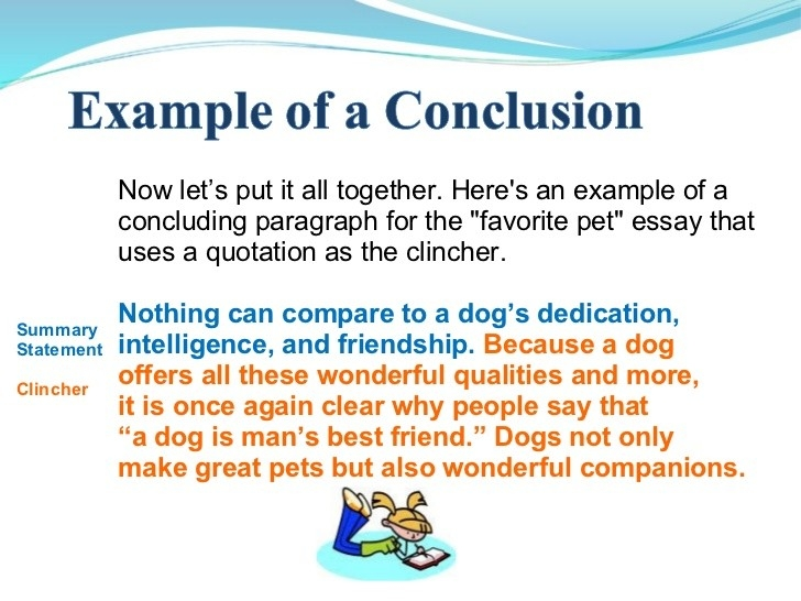 Example Of Writing A Conclusion In An Essay - Www.omoalata regarding Conclusion Examples For Kids 18961