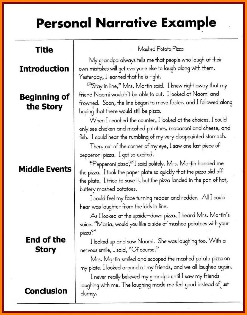 Personal Narrative Examples 3rd Grade Examples And Forms