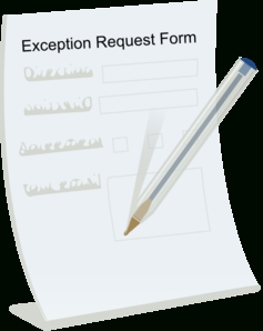 Exception Request Form Clip Art At Clker - Vector Clip Art with regard to Request Form Clipart 23666
