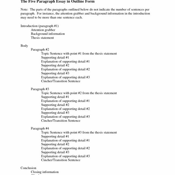 expository essay outline template middle school