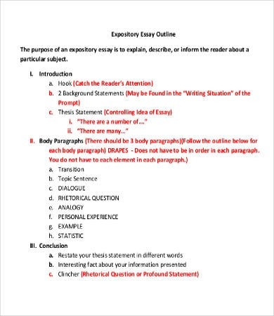 Expository Essay Format Outline - Fieldstation.co in Expository Essay Format 21081