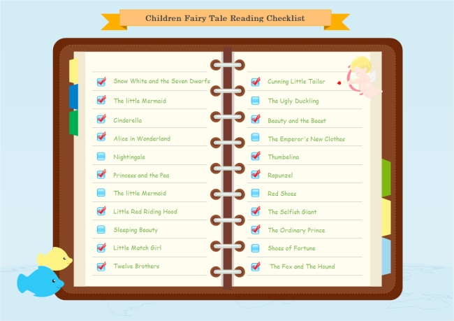 Fairytale Reading Checklist | Free Fairytale Reading Checklist pertaining to Checklist Template Png 24283