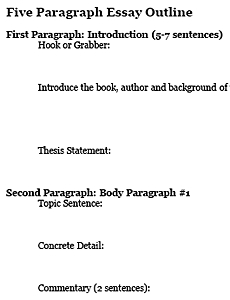 Five Paragraph Essay Outline - Freeology pertaining to Conclusion Paragraph Outline Example 21122