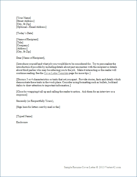 Formal Business Cover Letter Format | World Of Example inside Formal Business Cover Letter Format 22544