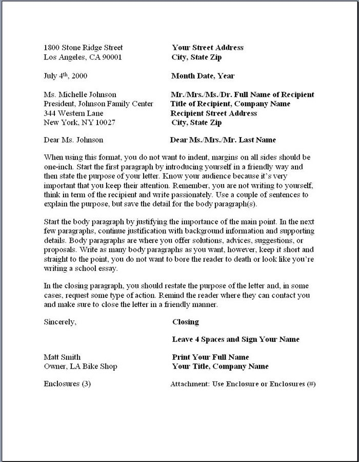 Formal Business Letter Block Format | World Of Example regarding Formal Business Letter Block Format 21861