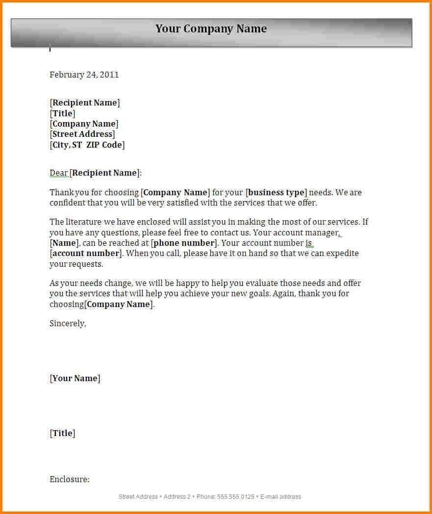 Formal Business Letter Format With Letterhead | World Of Example with Formal Business Letter Format With Letterhead 22374