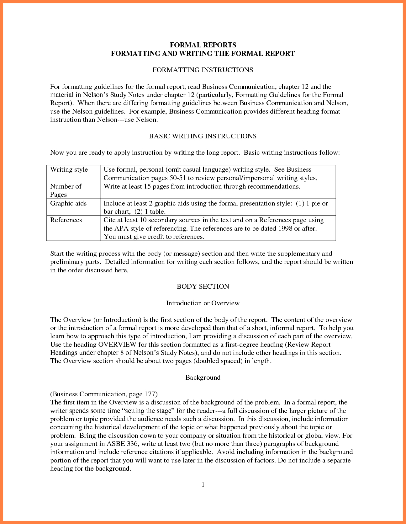 Formal Business Report Template   Asafon.ggec.co Pertaining To Formal  Business Report Format