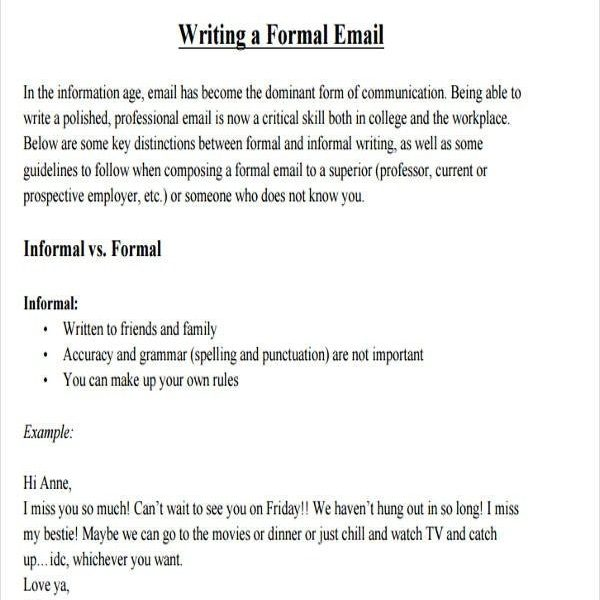 Formal Email Format Helpful Portrait Template Foundinmi Inside