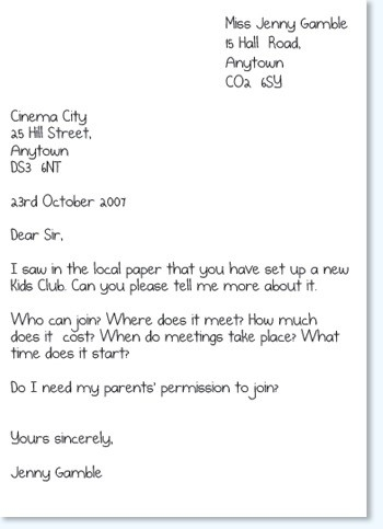 Formal Letter Format For Kids | Templates Corner pertaining to Formal Letter Format For Kids 20921