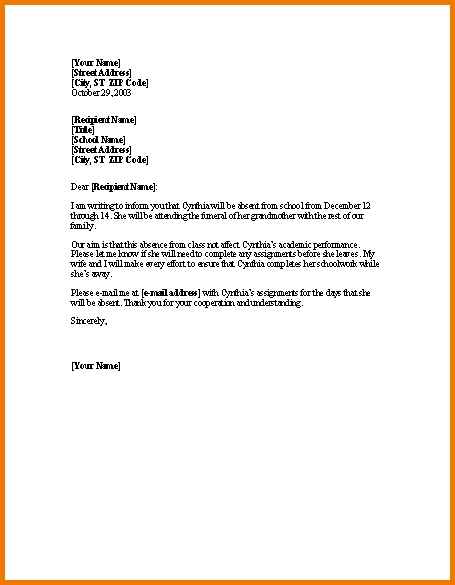 Formal Letter Format For School Students For Leave | Theveliger for Formal Letter Format For School Students 20067