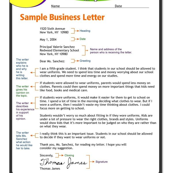 formal letter format lesson plan best of letter format for 6th within letter format for 6th graders