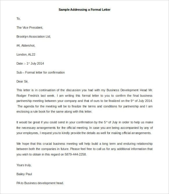 Formal Letter Format To President | Theveliger for Formal Letter Format To President 21722