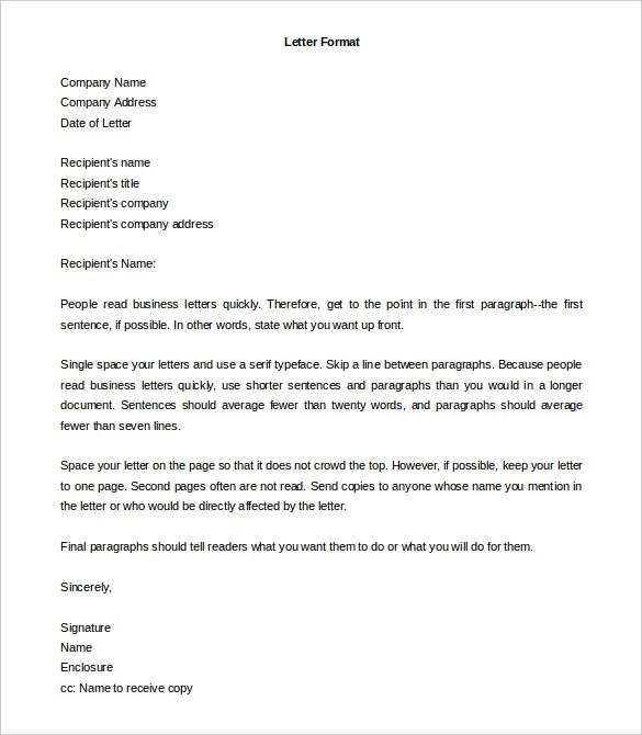 business letter format second page letter format word examples and forms
