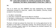 Scholarship Format Sample