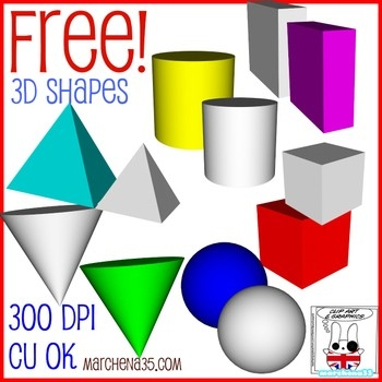 Free! 3D Shape Clip Art Images - Commercial Use Ok By regarding 3D Shapes Clip Art 19543