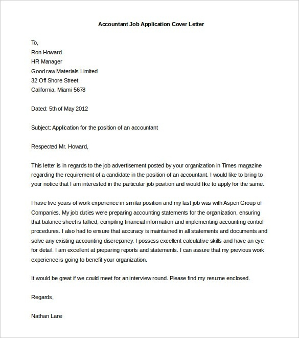 Free Cover Letter Template - 52+ Free Word, Pdf Documents | Free in Letter Format Word 22584