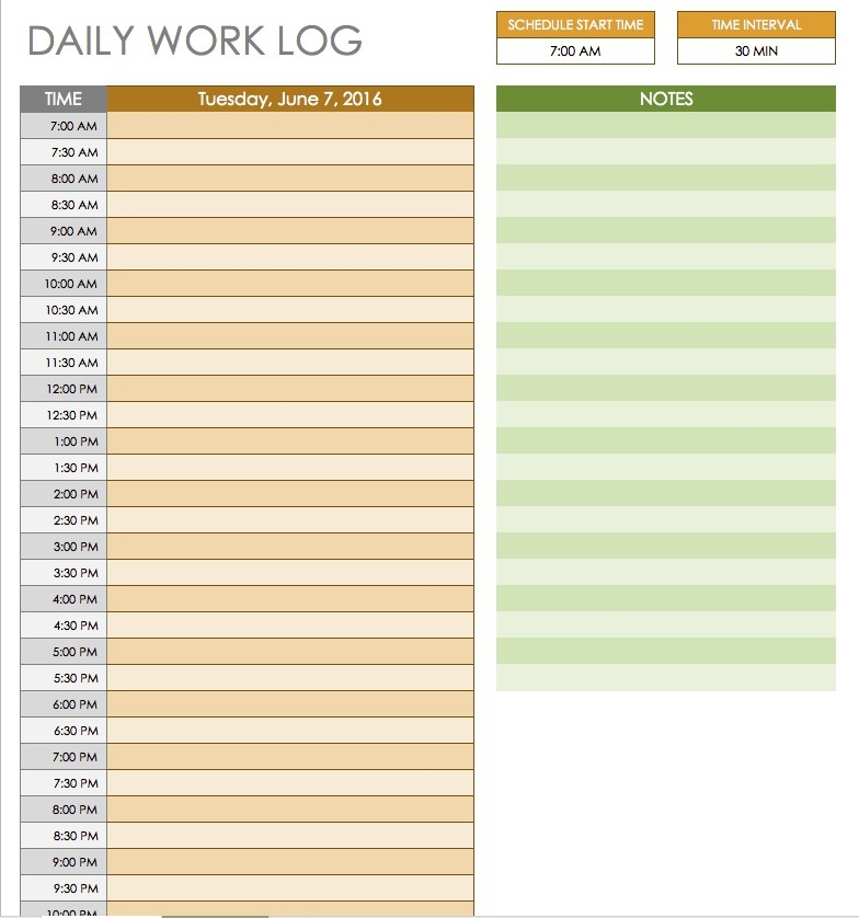 Free Daily Schedule Templates For Excel - Smartsheet intended for Hourly To Do List Template 22704