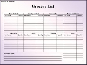 Free Editable In Ms Word Grocery List Template | Menu/meal/grocery with regard to Free Shopping List Template Download 22864