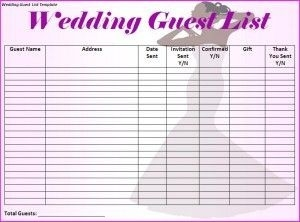 Free Editable In Ms Word Wedding-Guest-List-Template inside Printable Wedding Guest List Template 24222