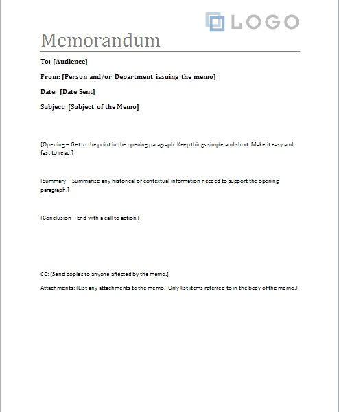 Free Memorandum Template U2013 Sample Memo Letter Within Business Memo Format  Microsoft Word  Memo Format On Word