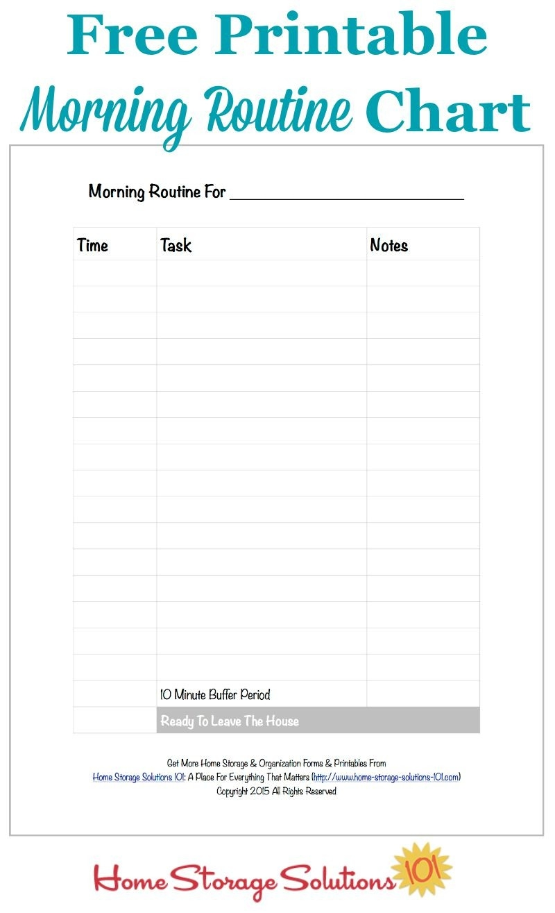 Free Printable Morning Routine Chart {Plus How To Use It} with regard to Daily Routine Checklist Template 24162