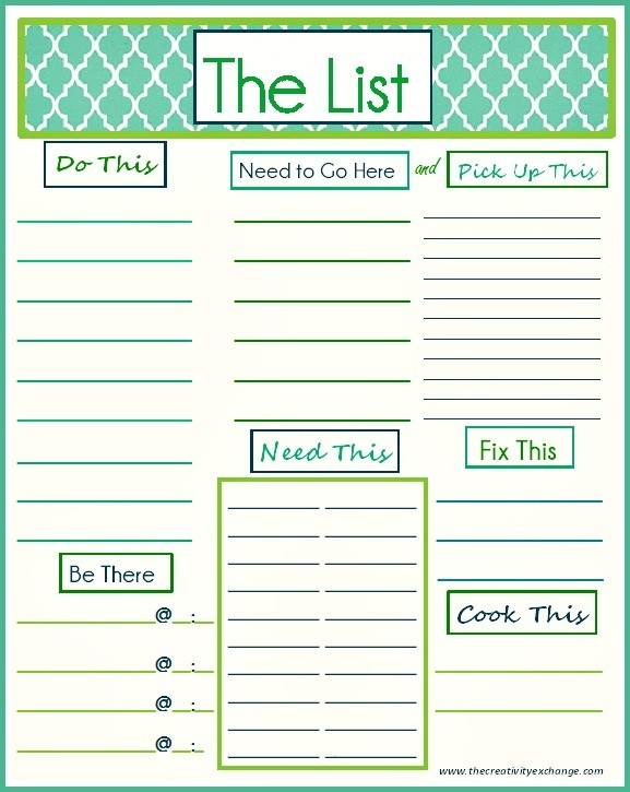 "Free Printable ""to Do"" List pertaining to Fun Printable To Do List 22244"