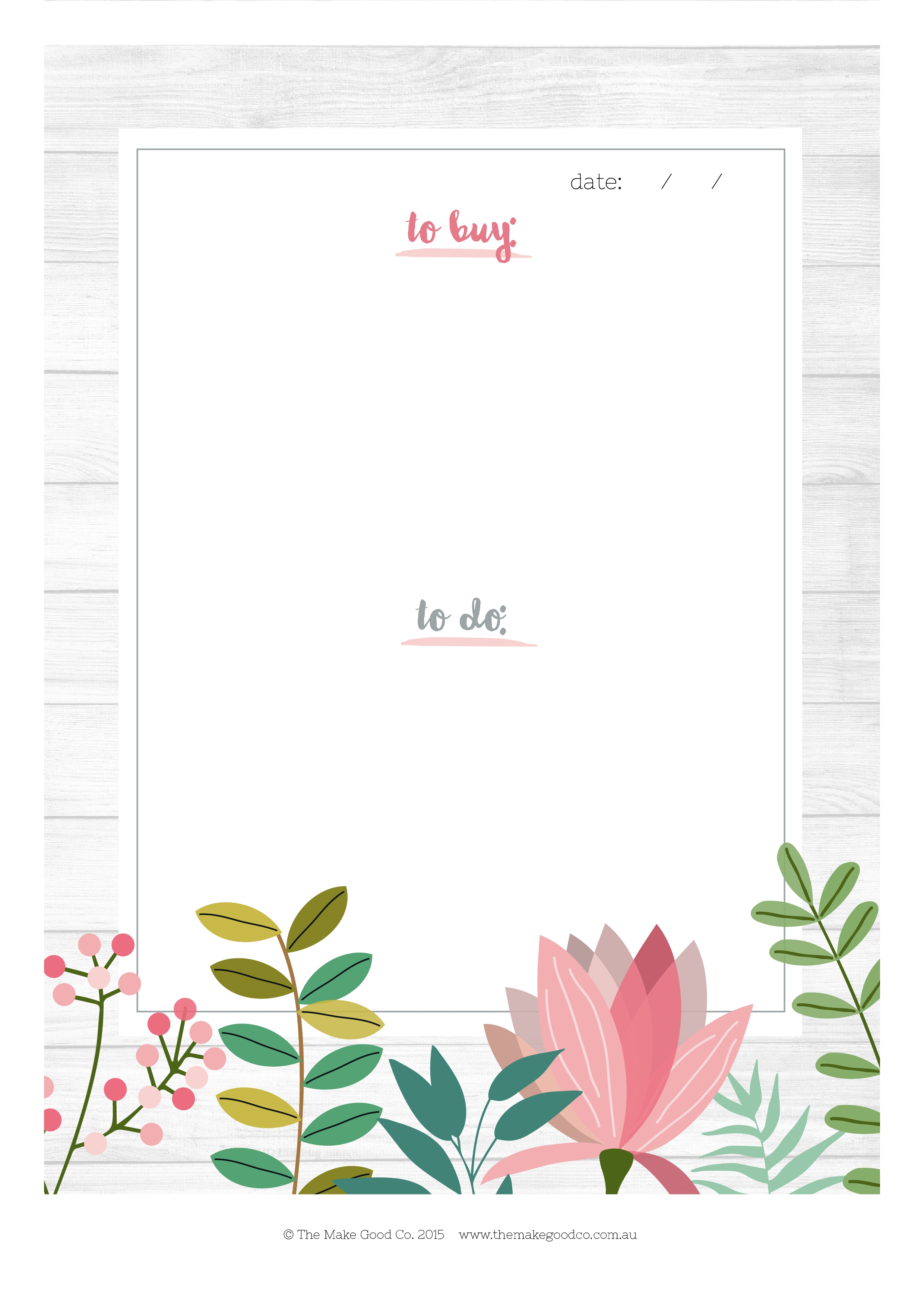 Free Printable To Do List Shopping List (Floral Design) within Weekly To Do List Printable Floral 22294