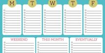 Cute To Do List Printable