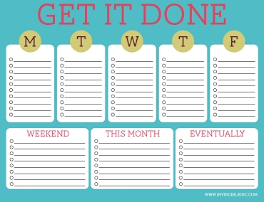 Free Printable To-Do Lists – Cute & Colorful Templates | Free regarding Cute To Do List Printable 24353