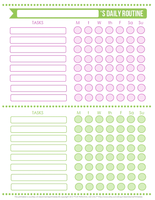 Free Printables | Daily Routine Chart, Routine Chart And Routine with regard to Blank Daily Checklist 19151