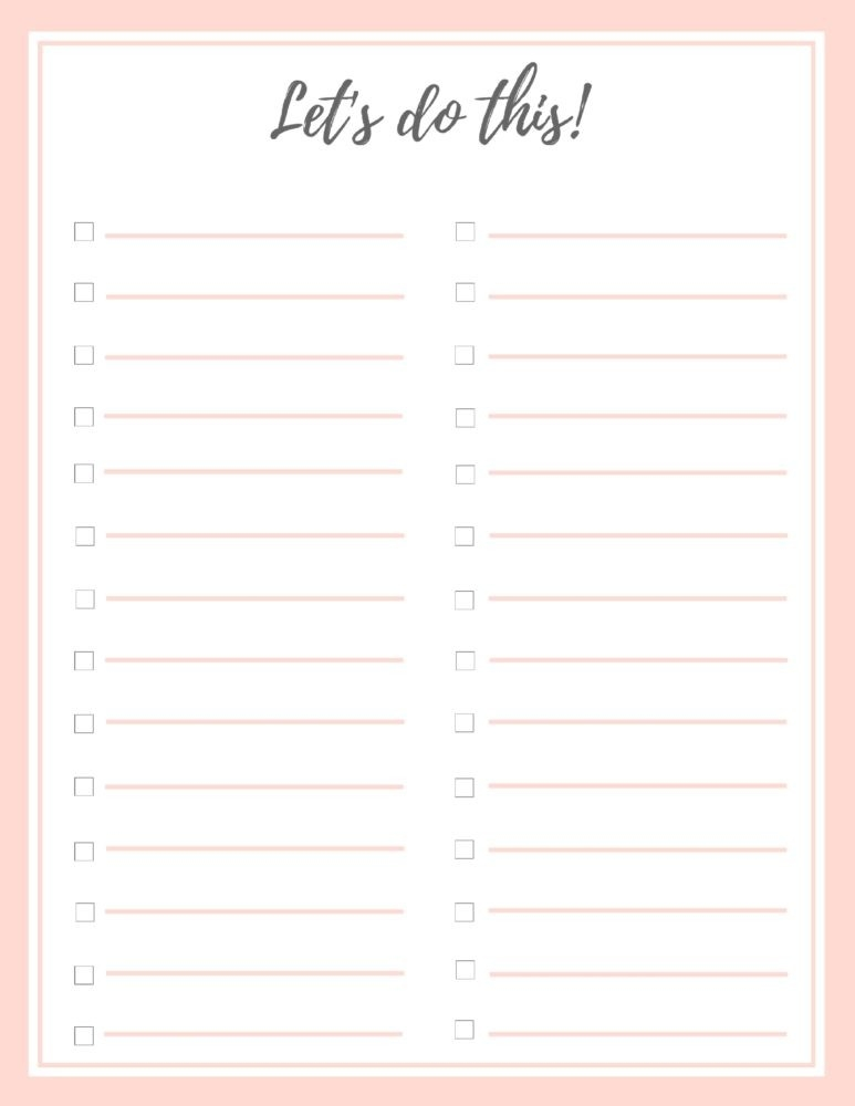 Free Stylish To Do List (Plus A Bonus!) | Birkley Lane Interiors with regard to Cute To Do List 20228