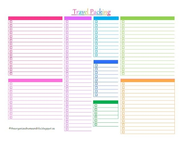 Free Summer Vacation Packing List Printable! | Why Didn't I Think within Blank Packing Checklist 19251